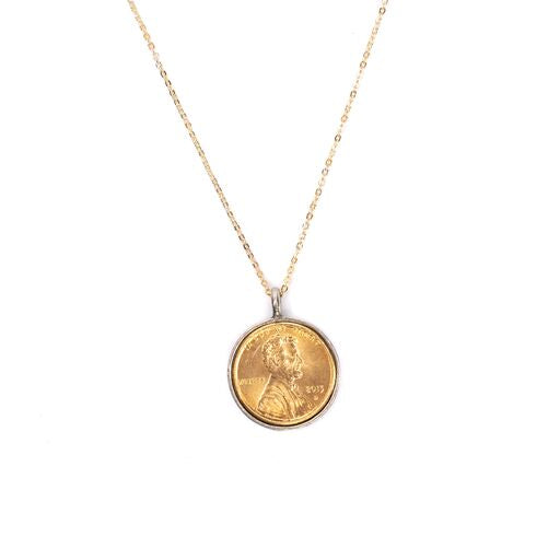 Just released!  Gold Plated Wishing on a Star Penny Necklace