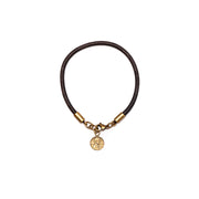 Round Leather Bracelet with Petite Penny