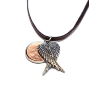 Penny from Heaven Wings at Rest Necklace on Leather. Select your year in drop down menu for an additional $10