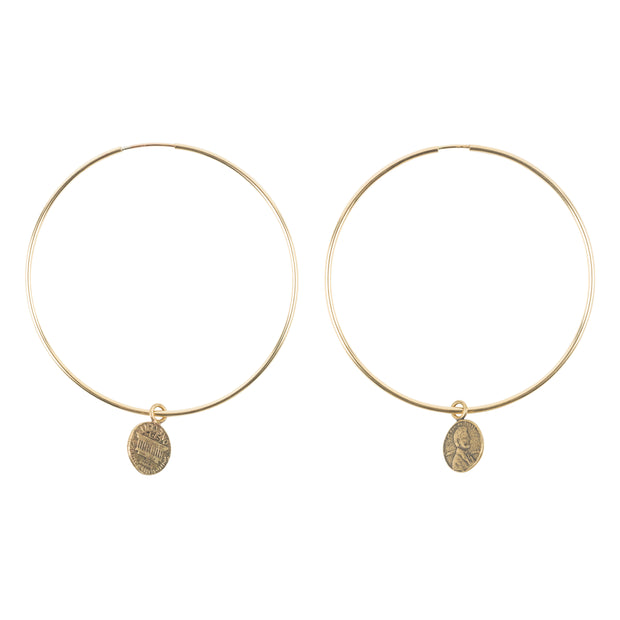 Penny from Heaven Petite Penny Large Hoop Earrings