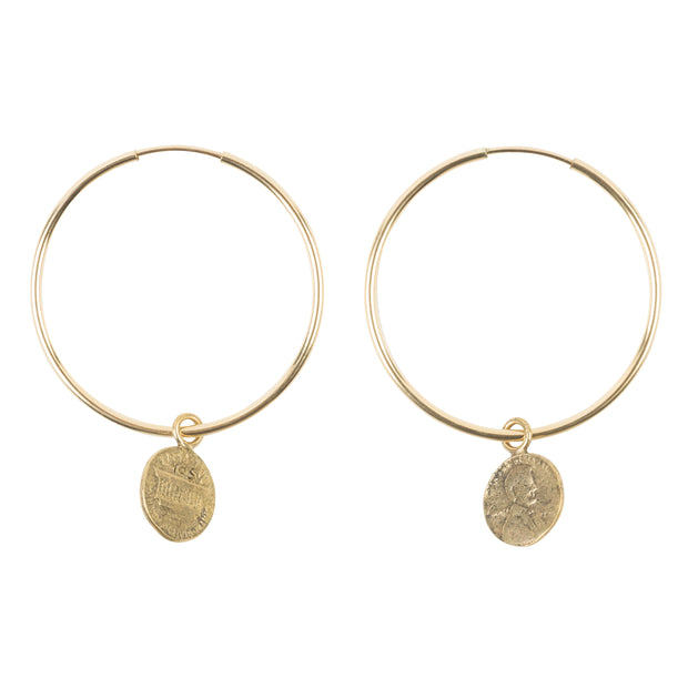 Penny from Heaven Petite Penny Small Hoop Earrings