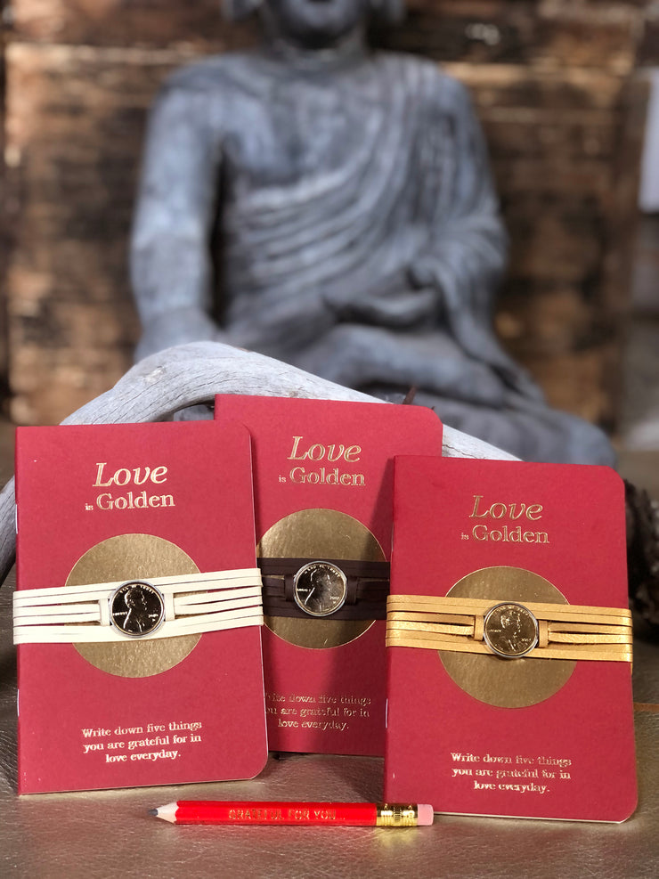 Love is Golden Wrap Bracelet with Journal Set