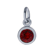 Sterling Petite Penny with Sterling Silver Birthstone Charm with Swarovski® Crystal-January