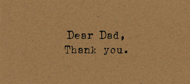 Dear Dad Card on Kraft