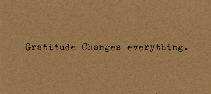 Gratitude Changes Everything- Card on Kraft
