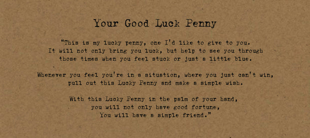 Your Good Luck Penny - Card on Kraft