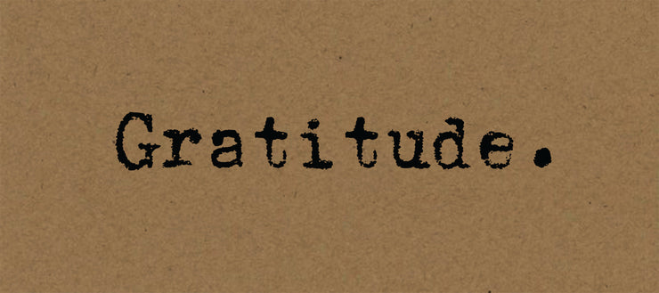 Gratitude - Card on Kraft