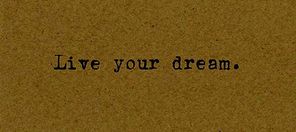 Live Your Dream - Card on Kraft