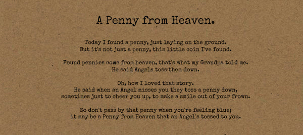 Penny From Heaven- Card on Kraft