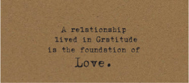 A relationship lived in Gratitude is a quiet joy Card on Kraft
