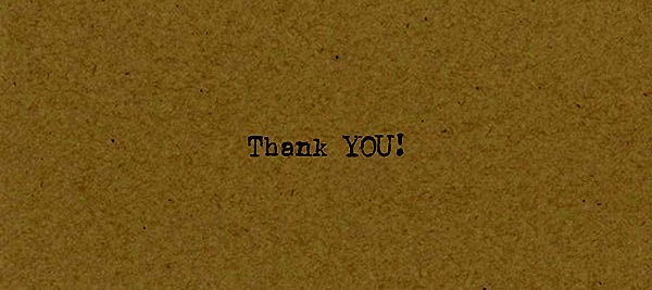 Thank You Card on Kraft