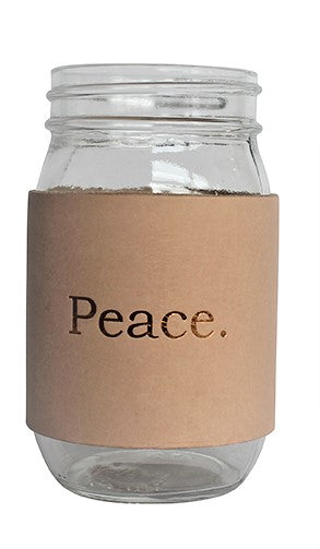 Peace Leather Mason Jar