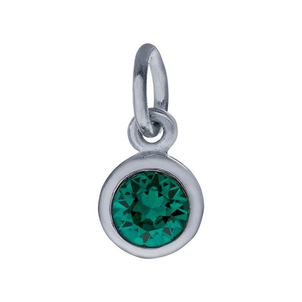 Sterling Petite Penny with Sterling Silver Birthstone Charm with Swarovski® Crystal- May