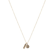 I AM Brave Petite Penny Necklace.  Yellow Bronze