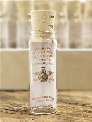 Change Your Thoughts Petite Penny Necklace in a Bottle