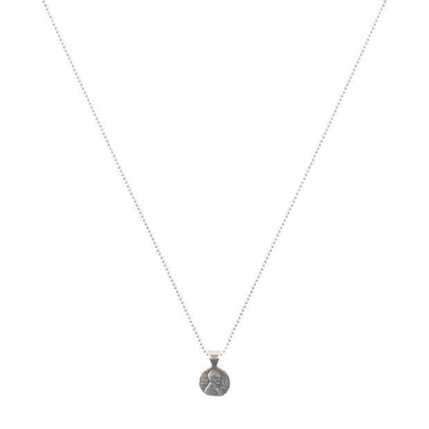 Grateful For You Sterling Silver Petite Penny Necklace