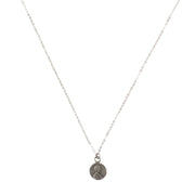 Good Luck Petite Penny Necklace White Bronze