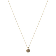 Petite Penny From Heaven Necklace Yellow Bronze
