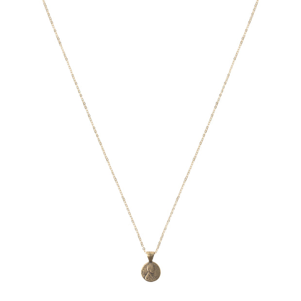 Petite Penny Necklace Yellow Bronze