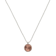 Customizable Good Luck Single Penny Necklace on Ballchain