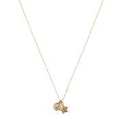 Lucky Petite Penny with Star Charm.  Yellow Bronze.