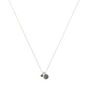 Sterling Petite Penny with Sterling Silver Birthstone Charm with Swarovski® Crystal- November