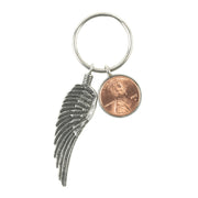 Penny from Heaven Key chain with Wing. Special Order Custom Years.