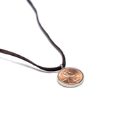 Penny from Heaven Single Penny Necklace on Leather. Select your year in drop down menu for an additional $10