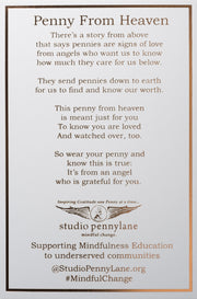 Penny from Heaven Wings at Rest Necklace on Silver Ball Chain. Select your year in drop down menu for an additional $10