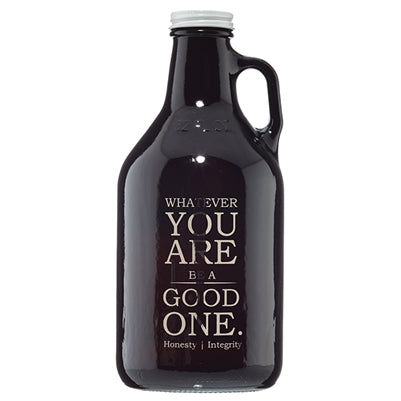 ABRAHAM'S AUTHENTIC VIRTUE TONIC AMBER GROWLER WITH LID