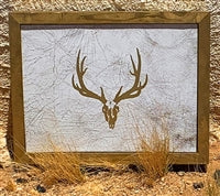 ELK LEATHER WALL ART