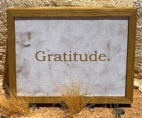 GRATITUDE LEATHER WALL ART