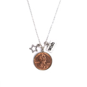 Wishing on a Star Penny Necklace with charms.