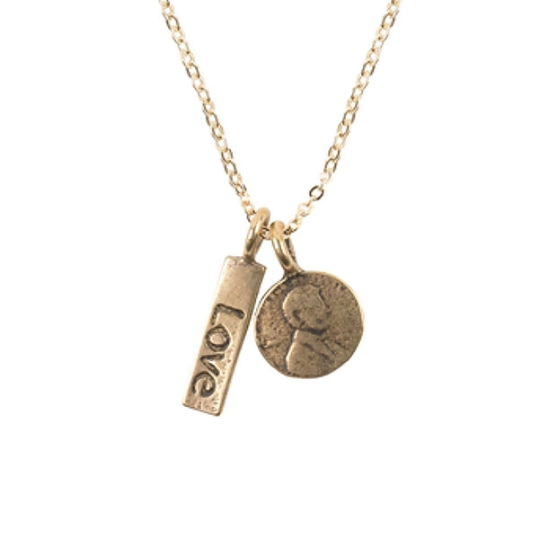 I Am Love Petite Penny Necklace