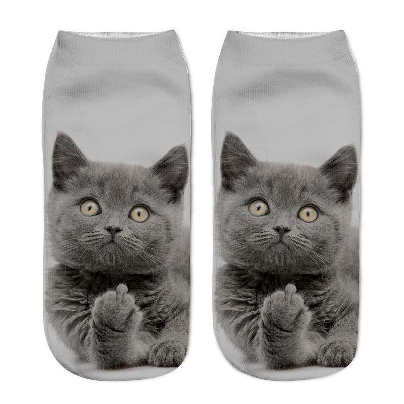 Cute Animal Patterned Funny Novelty Cotton Crew Socks🐱