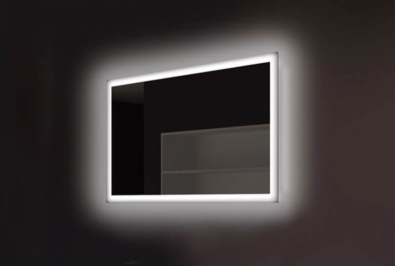 Halo Wide Led Light Bathroom Mirror: Led Illuminated Bathroom Mirror