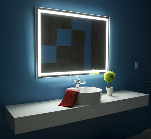 lighted mirror harmony 40 x 24 in paris mirror. Black Bedroom Furniture Sets. Home Design Ideas