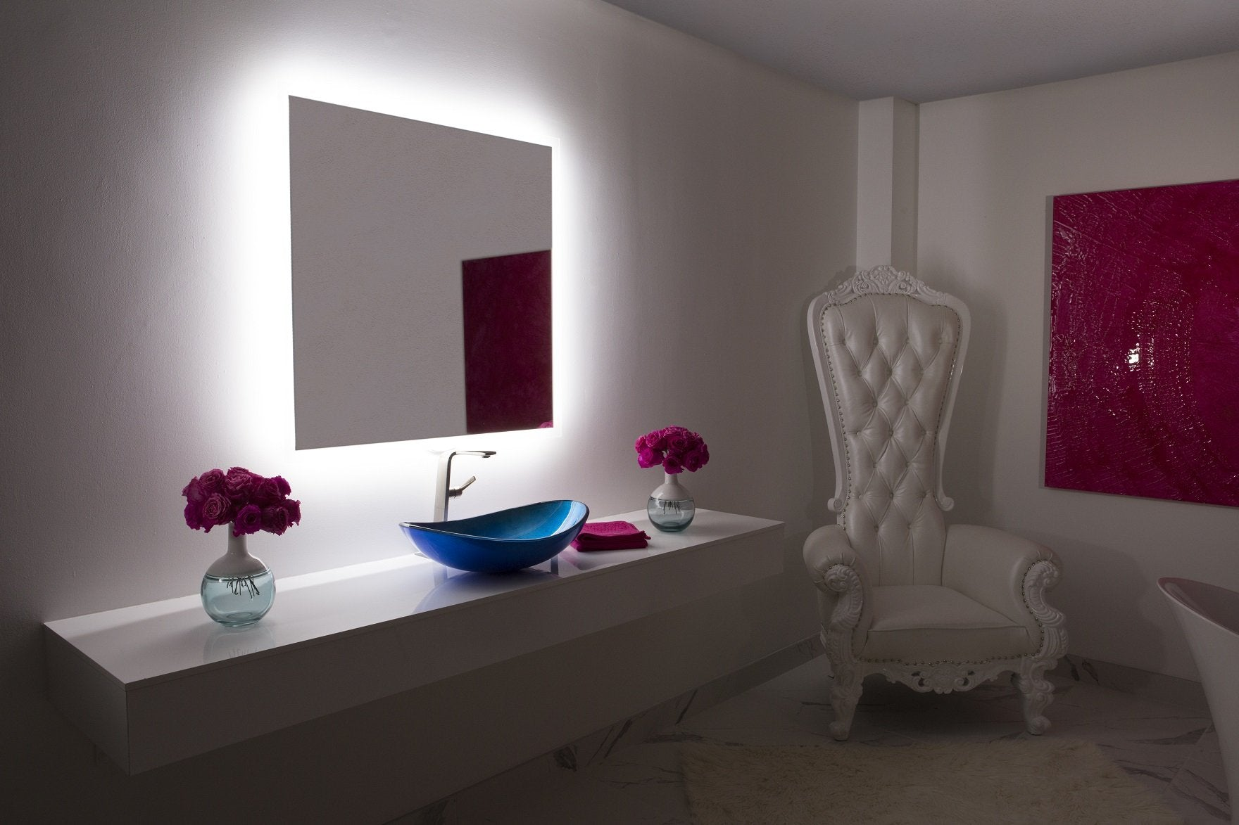 Dimmable Backlit Mirror Rectangle