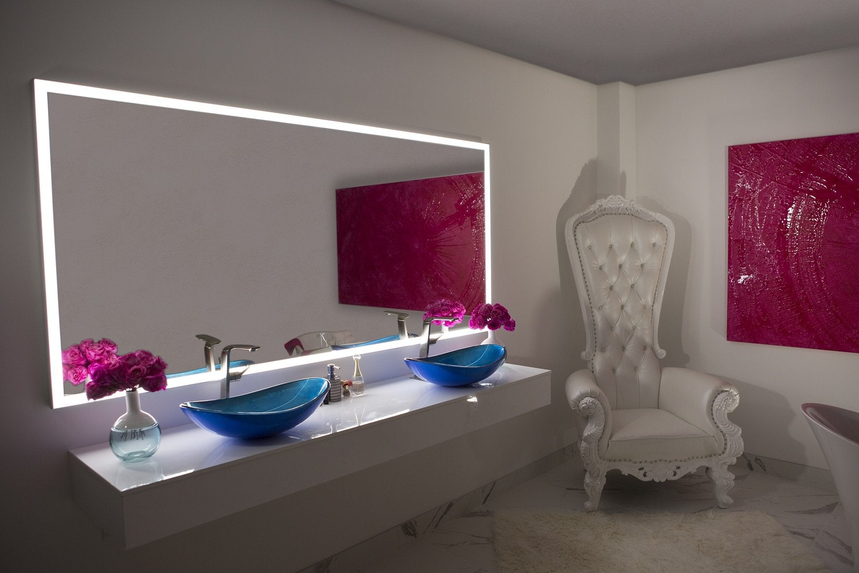Dimmable Lighted mirror Galaxy