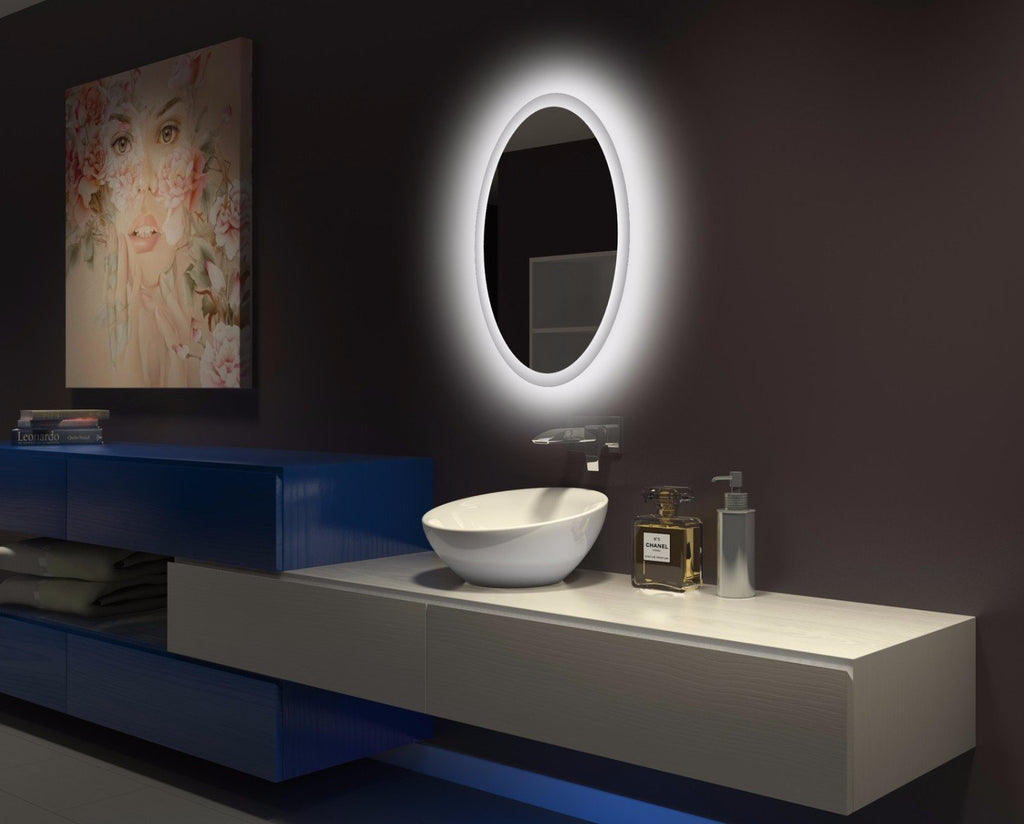 Dimmable Backlit Mirror Oval
