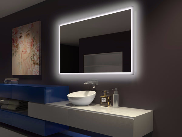BACKLIT Bathroom MIRROR RECTANGLE 60 X 36 In