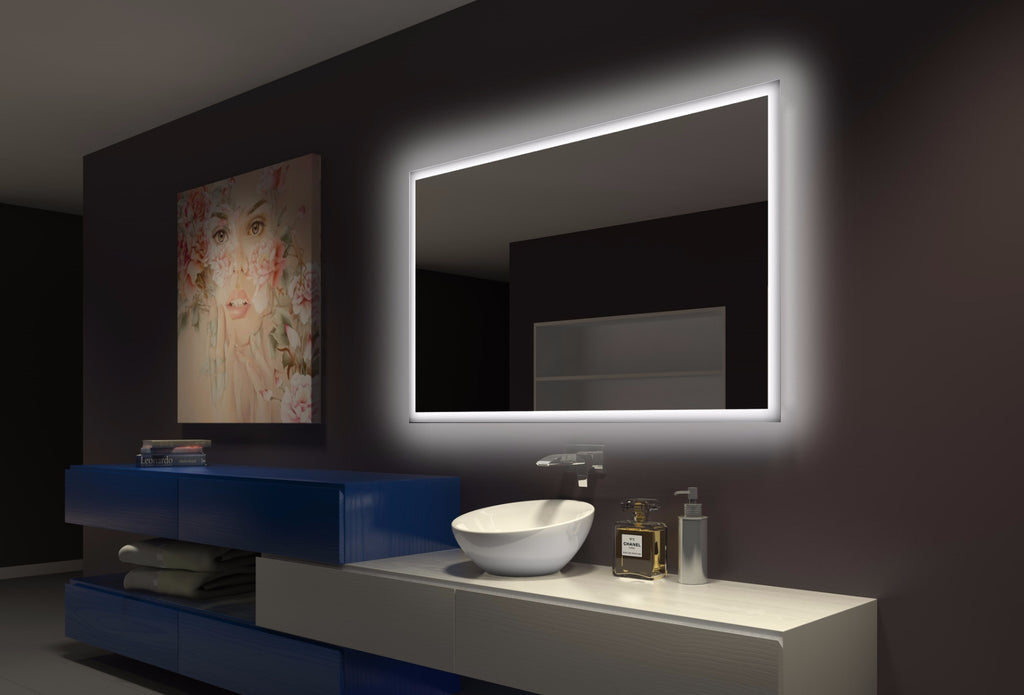 Backlit Bathroom Mirror Rectangle