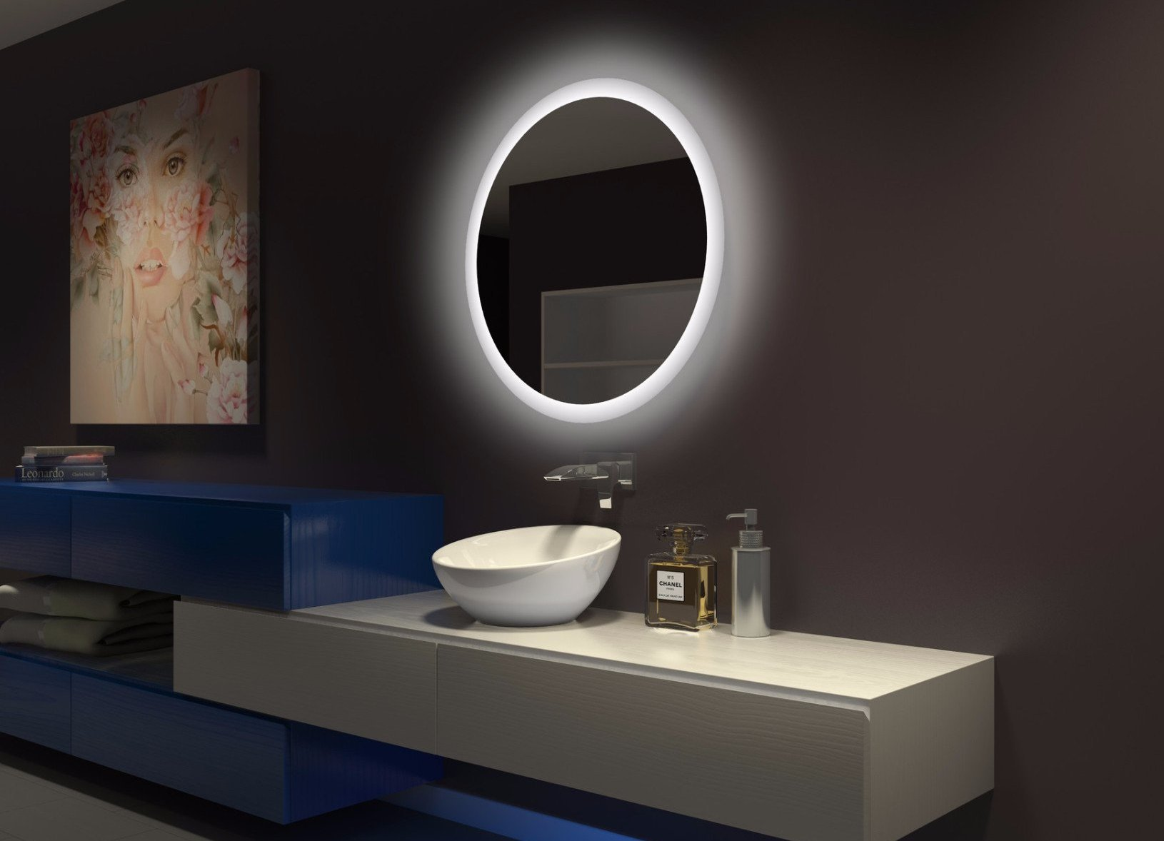 Dimmable Backlit Led Mirror Round