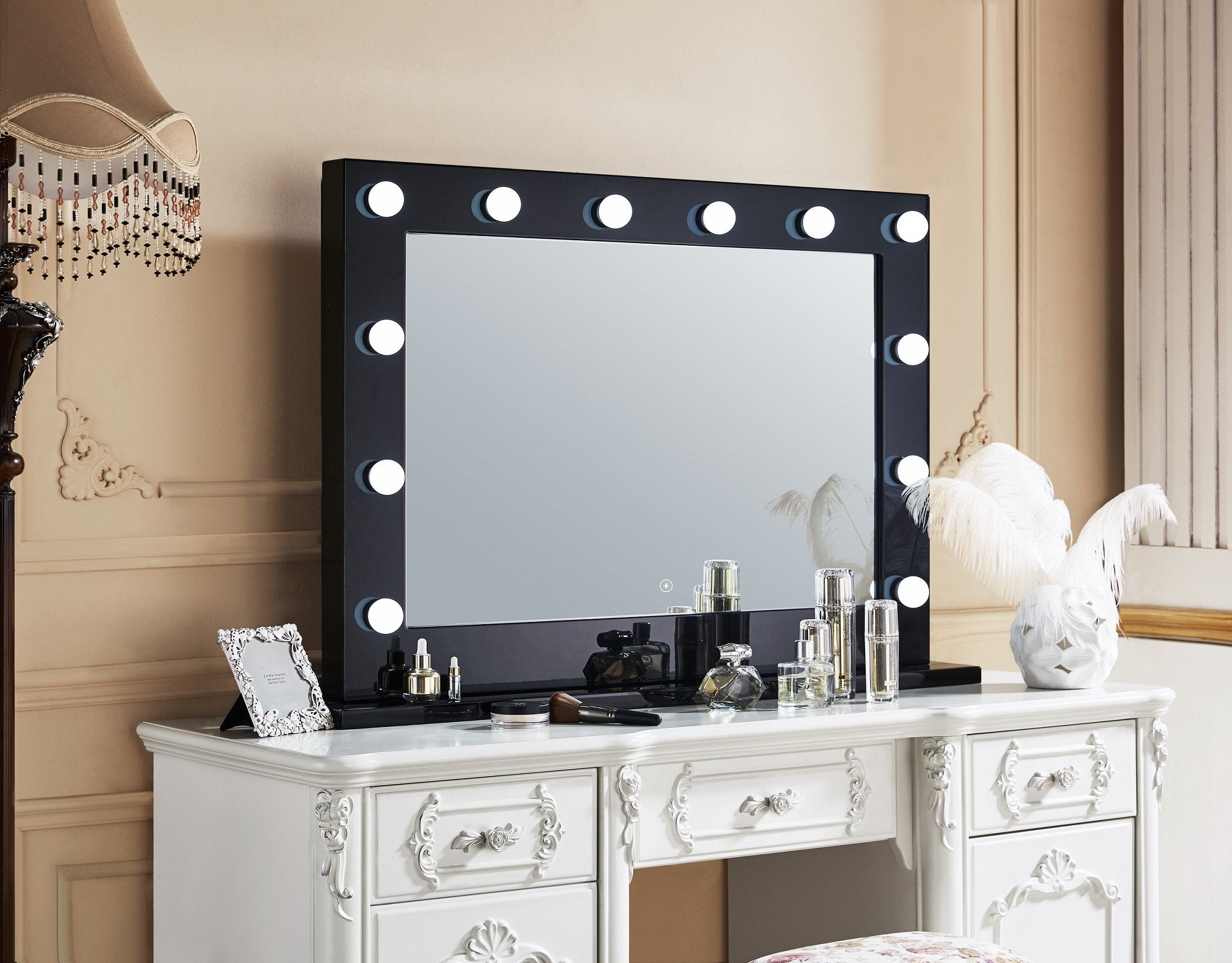 Hollywood Mirror black Bluetooth