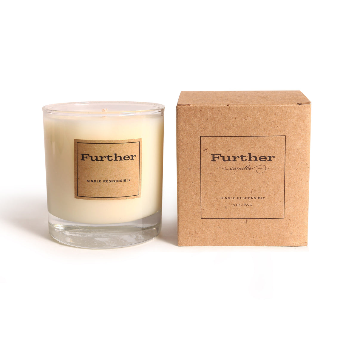 9 oz. Glass Candle – Further Soy Candle