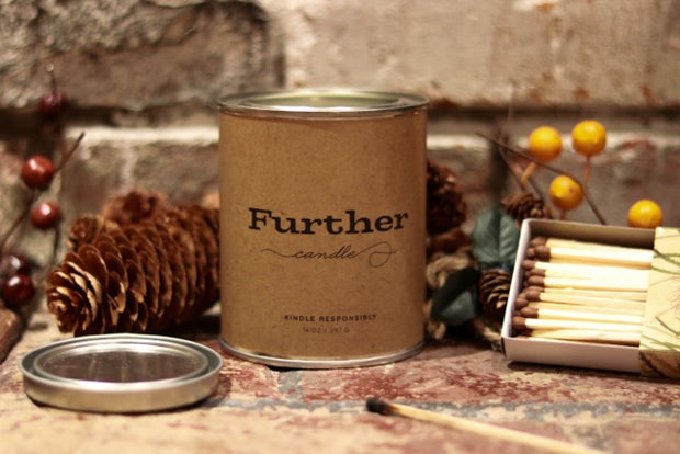 13 oz. Tin Candle – Further Soy Candle 1