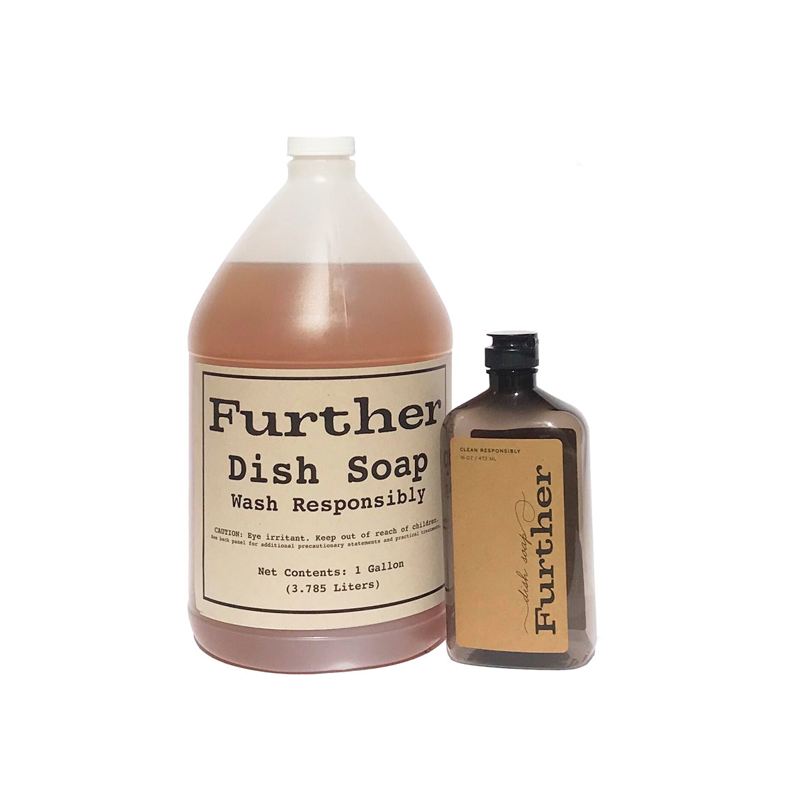 Further Dish Soap Refill + an empty 16oz bottle ($10 per gallon supports Help Feed the Frontline LA / online exclusive)
