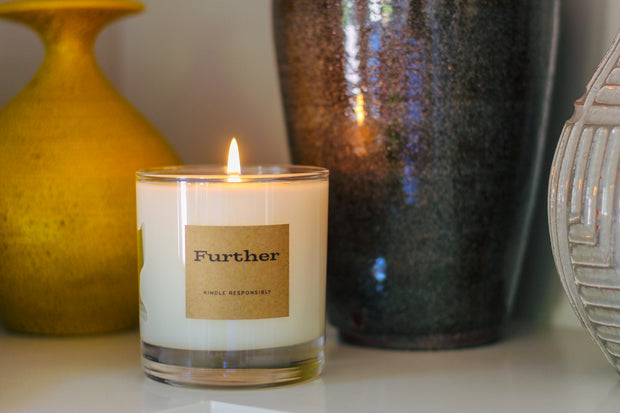 9 oz. Glass Candle – Further Soy Candle 1