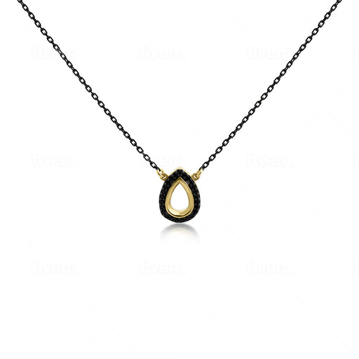Lucky Drop Zircon Necklace - SilaDea Jewelry