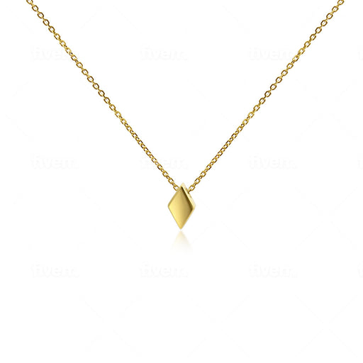 Rhombus Pendant Necklace - SilaDea Jewelry